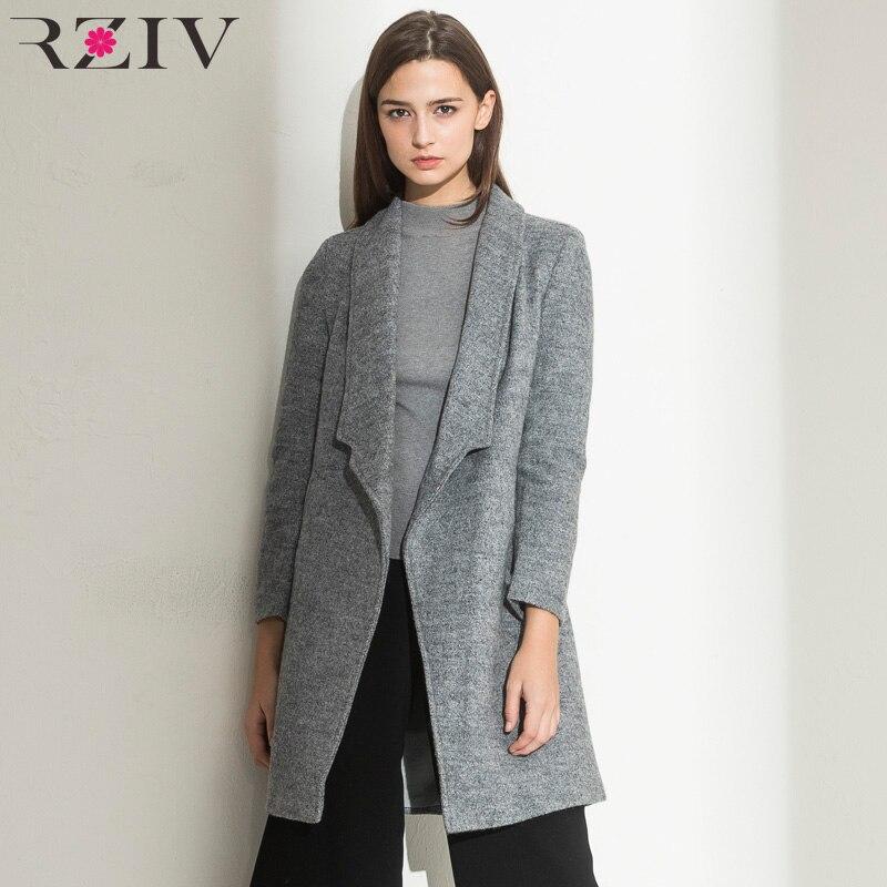 women winter autumn jacket long women coat slim suit collar long style soild woolen coat female