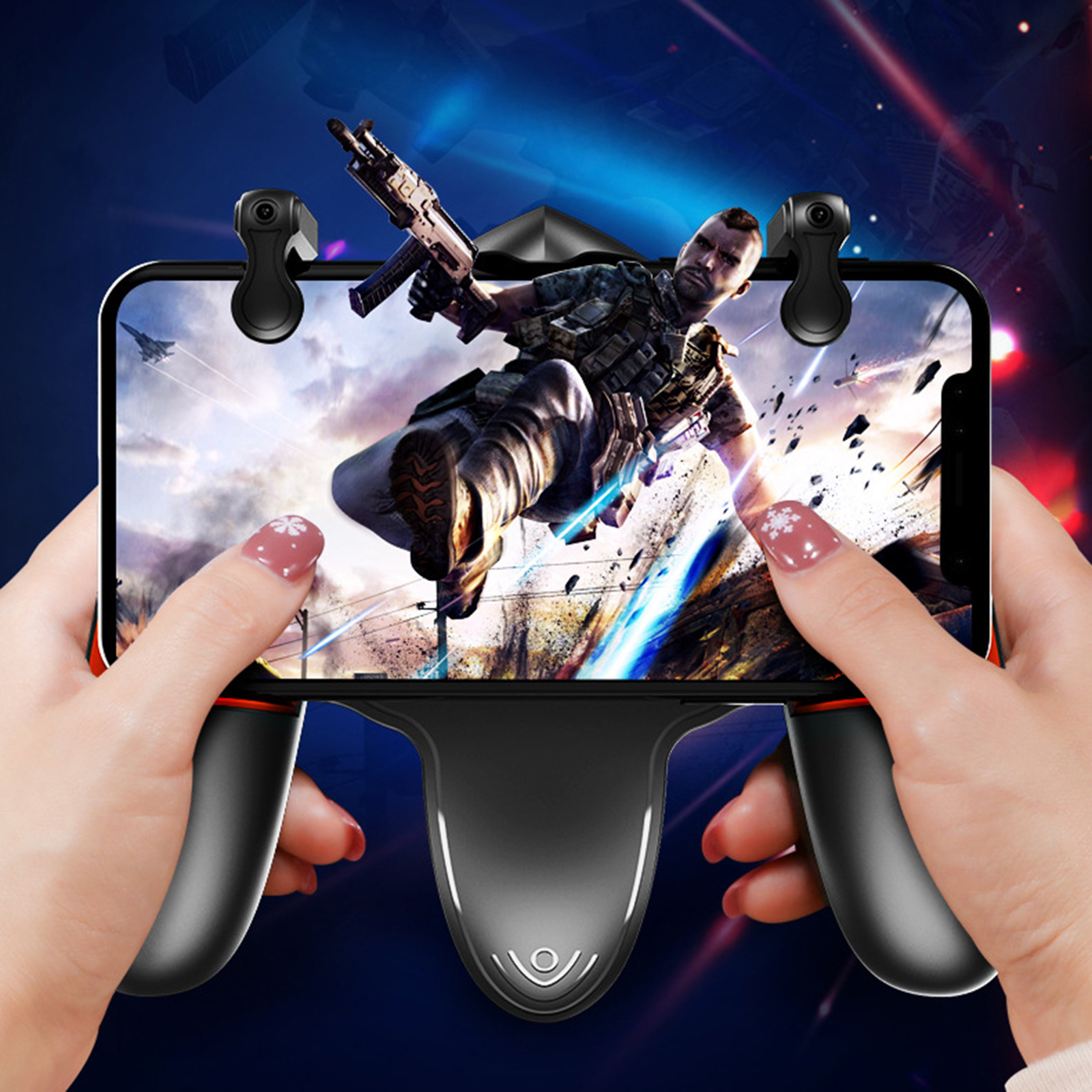 For PUBG Mobile Game Gamepad Handle Game Controller with Cooling Fan for Android IOS Mobile Phone