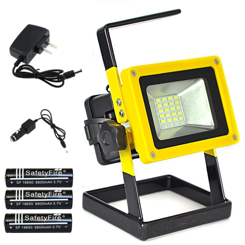 Led Flood Light Rechargeable 20w: 20W Floodlights Rechargeable 24 LED Flood Light Lamp Red