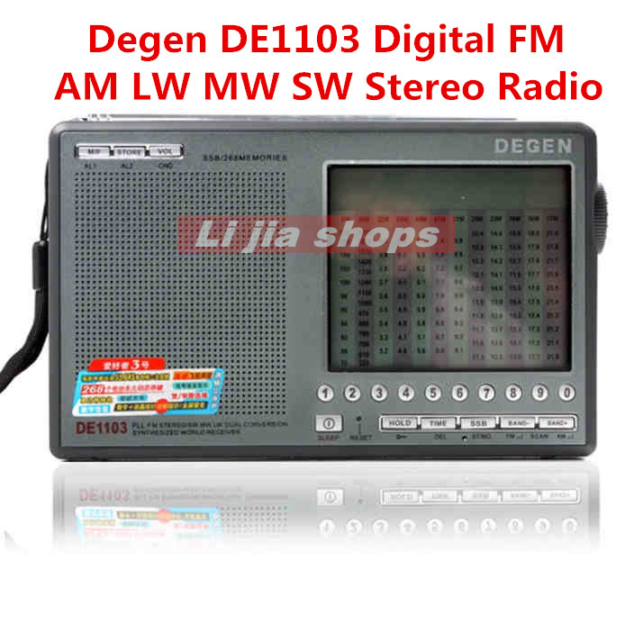 Degen DE1103 Radio DSP FM SW MW LW SSB Digital World Receiver External Antenna Portable Radio