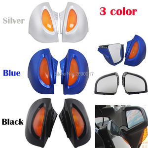Fits For BMW Side Rear mirrors Rearview W/Turn signal Lens R1100RT R1150RT R1100 RT R1150 RT Silver Black Blue 3 color(China)