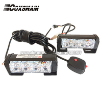 2X4 LED Universal Car Warning Strobe Flash Warning EMS Police Light Firemen Emergency Light 13 Modes