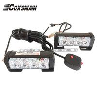 2X4 LED Universal Car Warning Strobe Flash Warning EMS Police Light Firemen Emergency Light 13 Modes