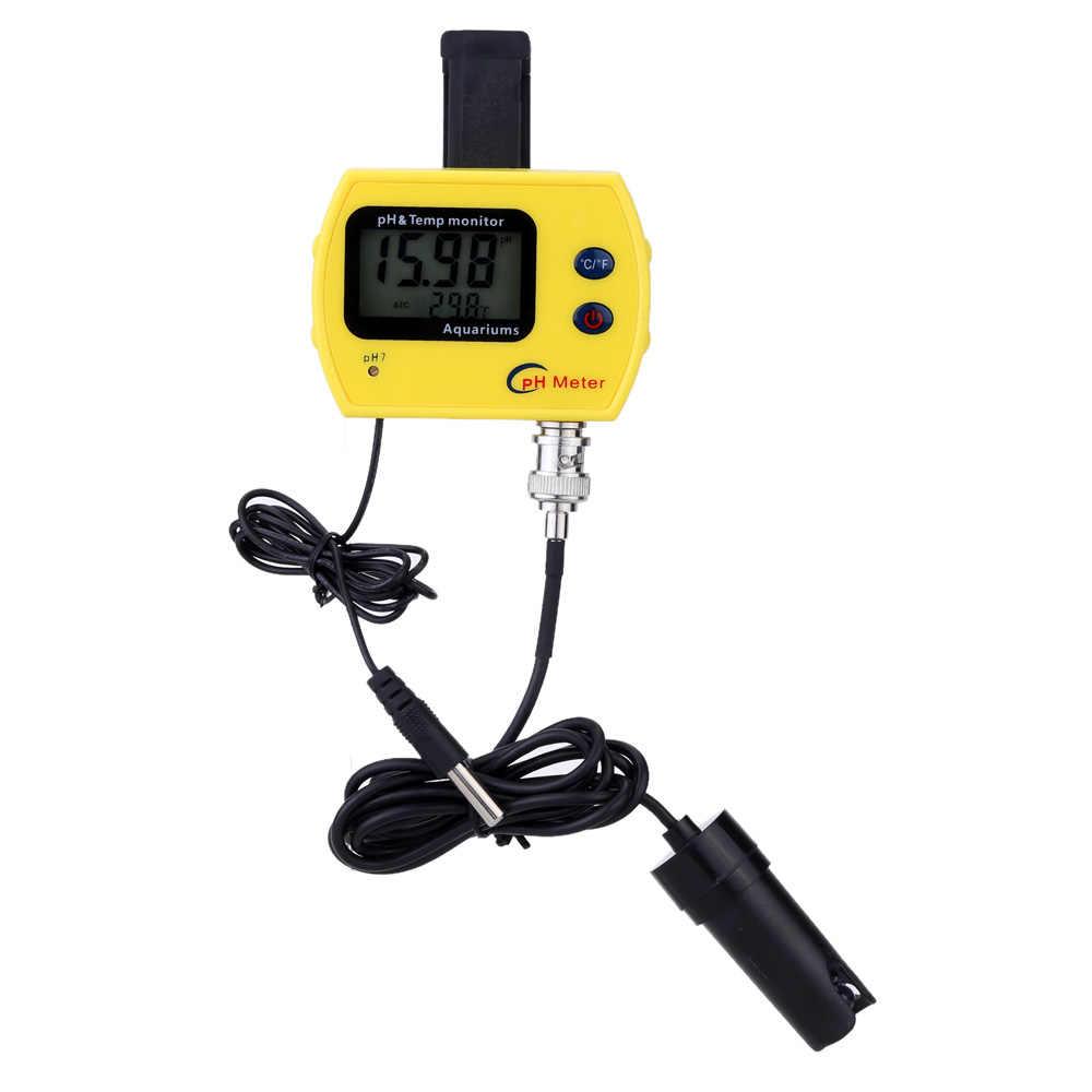 عالية الدقة pH و درجة الحرارة متر المهنية على الانترنت مقياس درجة الحموضة لحوض السمك المحمولة مقياس الحموضة غرامة الشرب نوعية المياه محلل