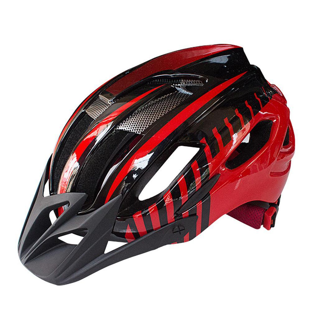 HobbyLaneBicycle Helmets Matte Black Men Women Bike Helmet Back Light MTB Mountain Road Bike Integrally Molded Cycling Helmets in Bicycle Helmet from Sports Entertainment