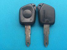 1pc nova substituição chave em branco para peugeot 106 205 206 306 405 406 1 botão remoto fob caso escudo sem corte lâmina acessórios do carro