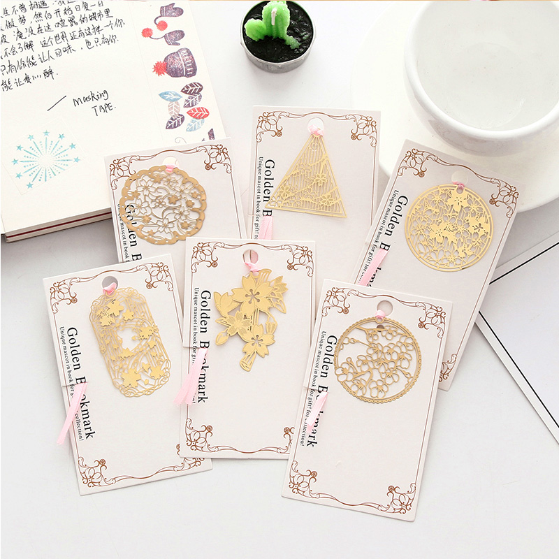 Creative Japanese Cherry Blossoms Bookmark Metal Hollow Book Mark Folder Office School Supplies Kawaii Stationery Teachers Gifts