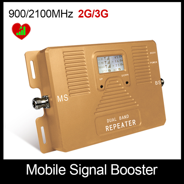 Best Price !LCD display!DUAL BAND 900/2100mhz speed 2G3G Smart mobile signal booster signal repeater 2g3g amplifeir Only Booster