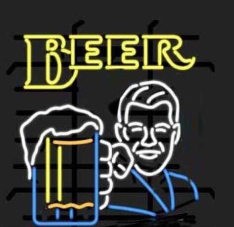 New Custom Made Beer Cheers Glass Neon Light Sign Beer Bar