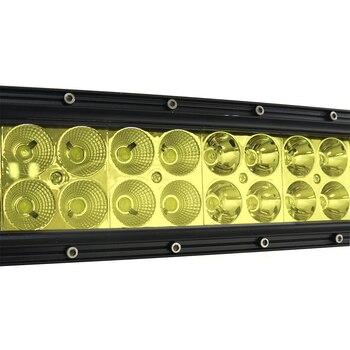 Barra Luminosa A Led Gialla | 50 Inch 288 W CURVO LED LIGHT BAR Spot Flood Fascio Combo Giallo Della Luce Di Nebbia Per Trattore Fuori Strada Barca 4WD 4x4 Auto Camion SUV ATV