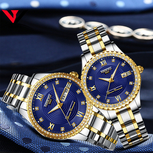 Image 3 - Nibosi unisex amante relógios marca superior de luxo relógio masculino e relógios feminino à prova dwaterproof água relógio de quartzo senhora cristal