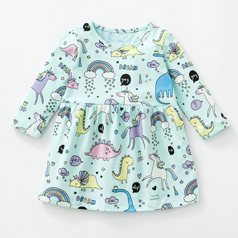 Children Dress Toddler Girls Long-Sleeve Winter Fashion Casual Cartoon