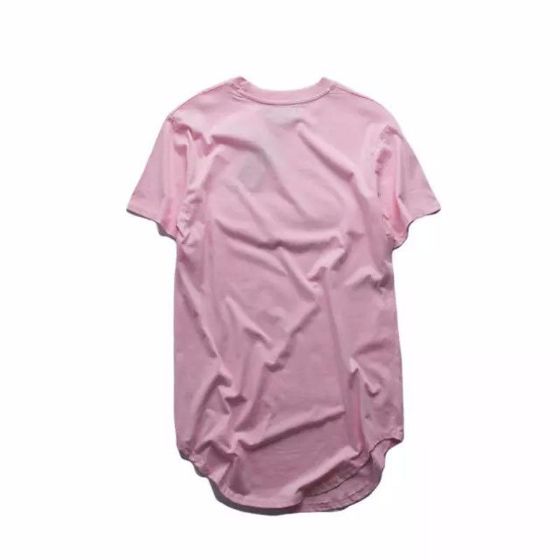 HIPFANDI 2017 Men big and tall Clothing designer citi trends Clothes T shirt homme Curved hem Tee plain white Extended T shirt