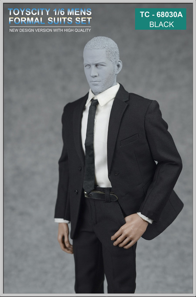 1//6 Toys City Men/'s Formal Suits Set in Grey for Action Figure 68030C