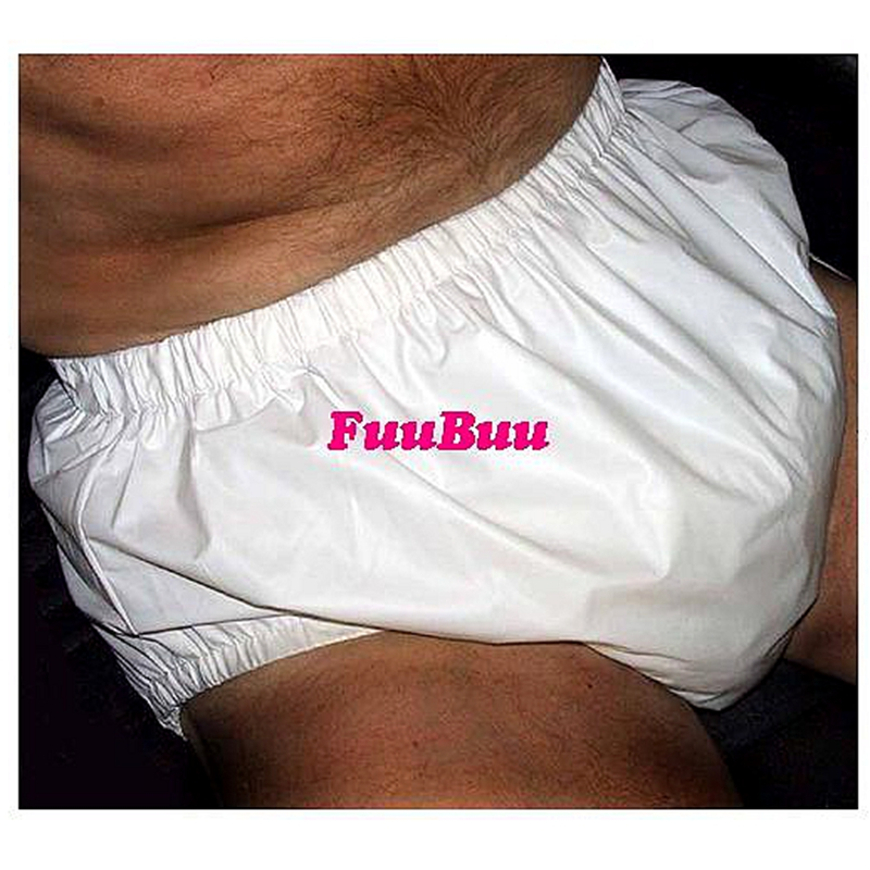 Free Shipping FuuBuu2202-White-S-1 PUL Pull On Pants/Adult Diaper/incontinence Pants /Pocket Diapers/Wasserdichte ABDL
