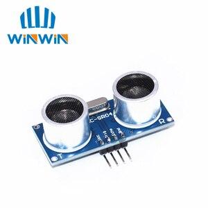 Image 2 - Free shipping 100pcs Ultrasonic Module HC SR04 Distance Measuring Transducer Sensor