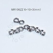 MR106ZZ 6 10 3 mm 10pieces free shipping bearing ABEC 5 Metal Sealed Miniature Mini Bearing