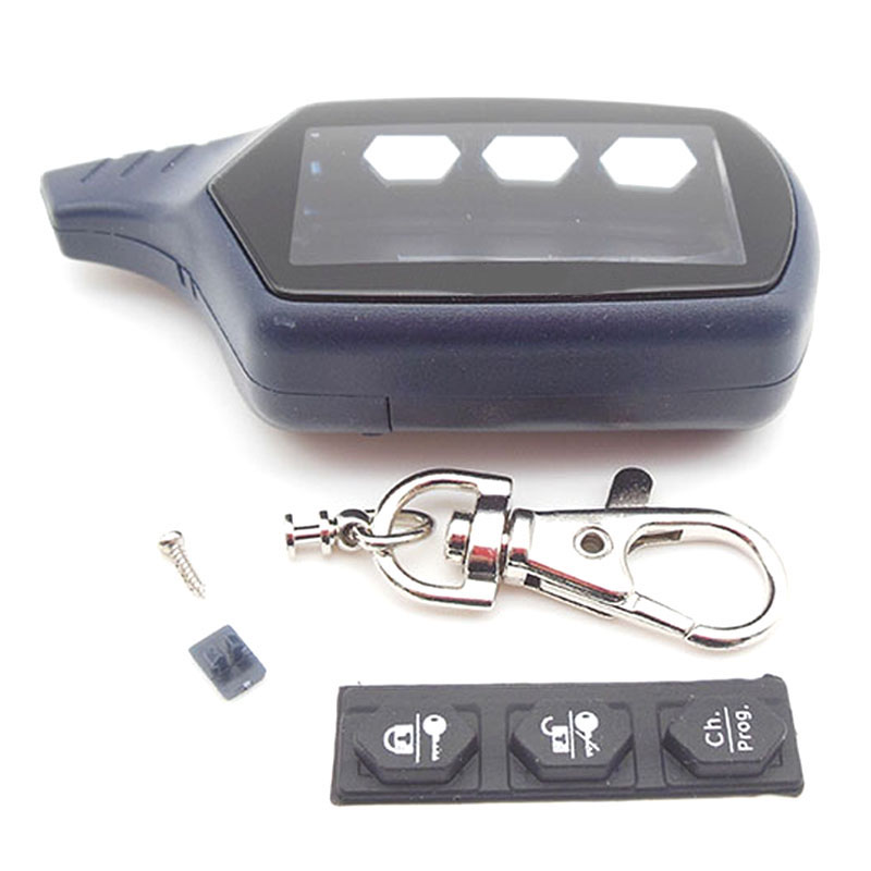 Russia Version EX8 Case Keychain For KGB EX-8 Lcd Remote Two Way Car Alarm System Free Shipping