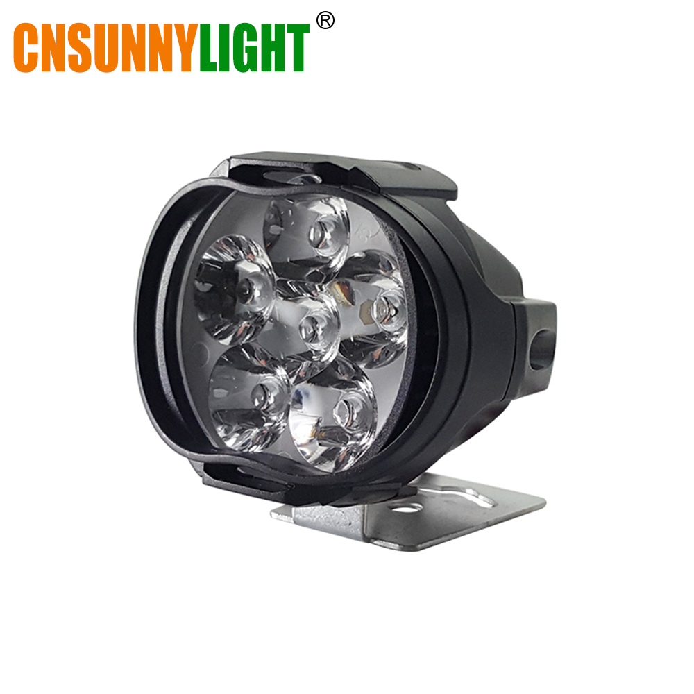 CNSUNNYLIGHT Car LED Work Headlight 8W 1000Lm Motorcycle Bike Fog DRL Spot Light Spotlight DIY Scooter White External Headlamp
