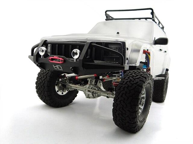 Здесь продается  Hot Racing Aluminum Front Bumper For 1/10 Traxxas TRX-4 TRX4 AXIAL SCX10 II 90046 90047 Rc Car Upgrades Parts  Игрушки и Хобби
