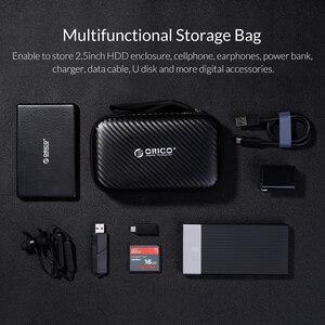 Image 5 - Orico Storage Case Bag Draagbare Hdd Bescherming Tas Oortelefoon Tas Accessoires Case Voor 2.5 Hard Disk Case Usb kabel Power bank