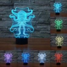 Octopus Shape 3D Light Touch USB Table Lampara As Beside Lamp 7 Color Changing Atmosphere Light Night Light as Gift IY803453