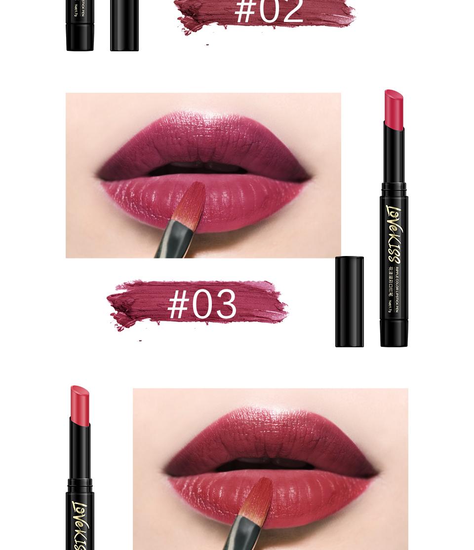 Nude Sexy Lipstick red Lipgloss Long lasting Pigment Matte Lipstick Women Fashion Makeup Cosmetic Valentine's GIFT private label 5