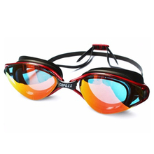 Plating Mirrored Swimming Waterproof Glasses for Adults Sport anti uv fog Protection Swim Goggles Blue