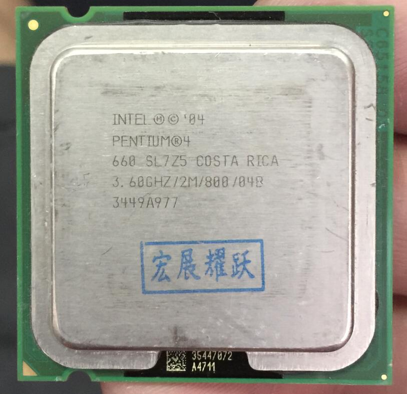 Intel Pentium 4 660 P4 660 3.6 3.6GHZ Dual-Core CPU LGA 775 100% working properly Desktop Processor P4 660