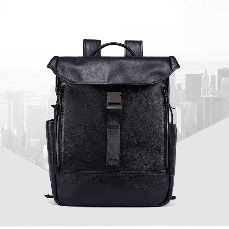 Bagaj ve Çantalar'ten Sırt Çantaları'de Erkek kadın sırt çantası Hakiki Deri Yağı Balmumu anti hırsızlık Ipad çanta kılıfı Omuz Bolsa Feminina Öğrenci Schoolbag Seyahat Hediyeler'da  Grup 1