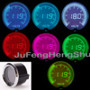 2 52mm 1 16 Colorful Volt Gauge 12V Car 2 Inches 7 Color LED Light Tint