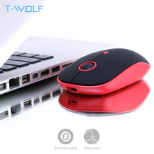 T WOLF q10 rato de computador recarregável sem fio 2.4 ghz mudo magro pc mouse portátil usb óptico ratos 1600 dpi para macbook/portátil