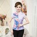 Высокое Качество Лето Хлопок Женщины Китайский Стиль Тан Костюм Топы Блузка винтаж Традиционный Китайский Рубашка Ml XL XXL XXXL 4XL T31