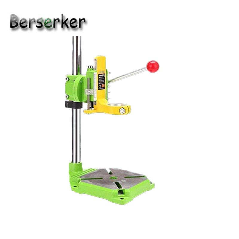 Berserker Drill stand drill holder clamp press stand angle adjust for drilling Iron base BG-6117 Free Shipping electric power drill press stand table for drill workbench repair tool clamp for drilling collet table 35