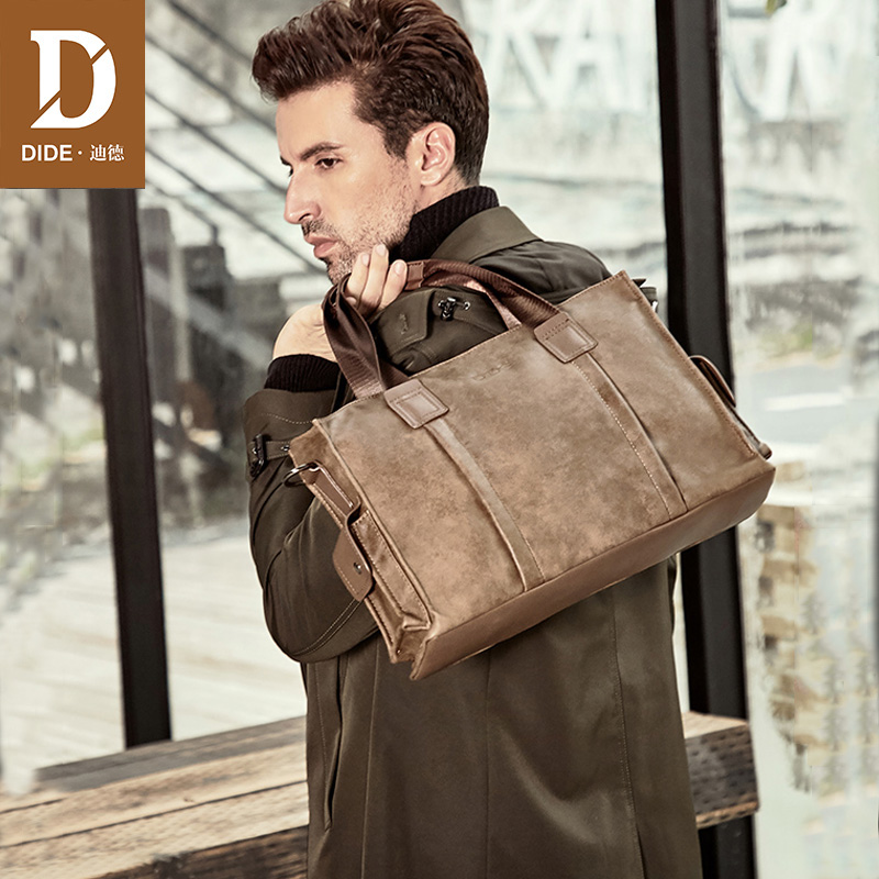 DIDE Brand Design Business Fashion Messenger Bag 14' Laptop Bag Messenger/Shoulder Bags Men's Office Briefcase Male Handbags