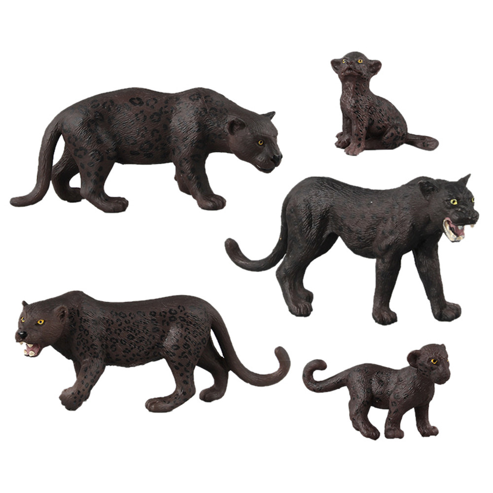 Model Kit Black Panther Animal Model Toy Figurine Model Ornament Toys Exquisite Fun Collection Hobby Model toys for children figurine