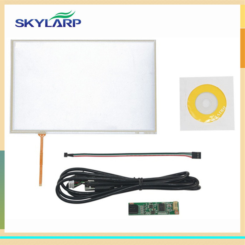 skylarpu New 10.1 inch 4 Wire Resistive Touch Panel USB Controller Kit For B101EVN07.0 LED Screen Screen touch panel Glass малина пурпурная