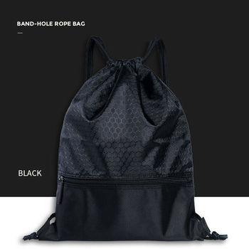 2019 Newest Hot Man Women Polyester String Drawstring Back Pack Cinch Sack Gym Tote Bag School Sport Bag 1