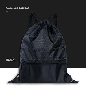 2019 Newest Hot Man Women Polyester String Drawstring Back Pack Cinch Sack Gym Tote Bag School Sport Bag(China)