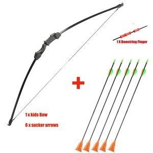 Image 2 - Junxing Рекурсивный лук 15 ~ 20 фунтов, игрушечный лук и стрелы, Молодежный Набор для стрельбы из лука и стрелы, детский лук