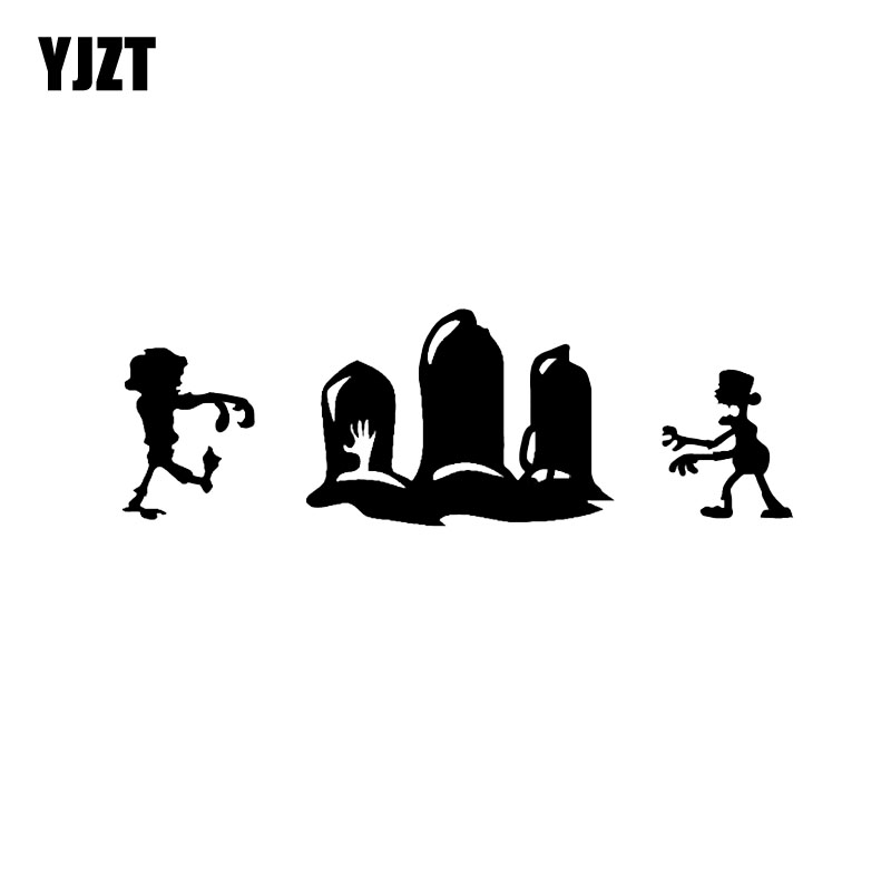 Exterior Accessories Hospitable Yjzt 16*5.2cm Halloween Scary Zombie Vinyl Decor Car Stickers Accessories Black/silver C12-0995 Selected Material Car Stickers