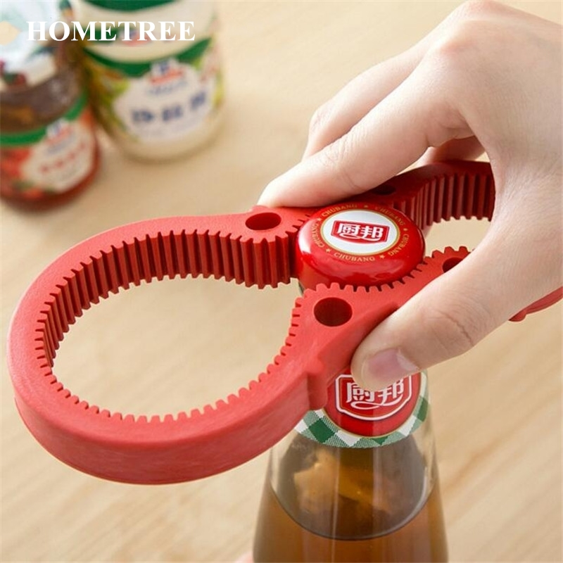 HOMETREE 3 in 1 Rubber Handy Anti-slip Can Lid Screw Opener Bottle Kitchen Twist Tool Opener for Pop/Beer Bottle Jar Quality H70