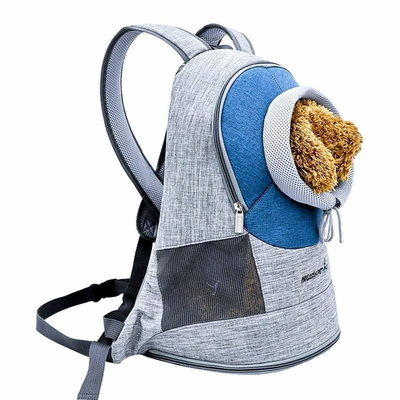Yooap Pet supplies out portable backpack cat travel bag fashion breathable outcrop pet dog front bag mesh backpack in Dog Carriers from Home Garden