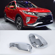 Car Accessories Exterior Decoration ABS Chrome Rearview Mirrors Cover For Mitsubishi Eclipse Cross 2018 Car-styling