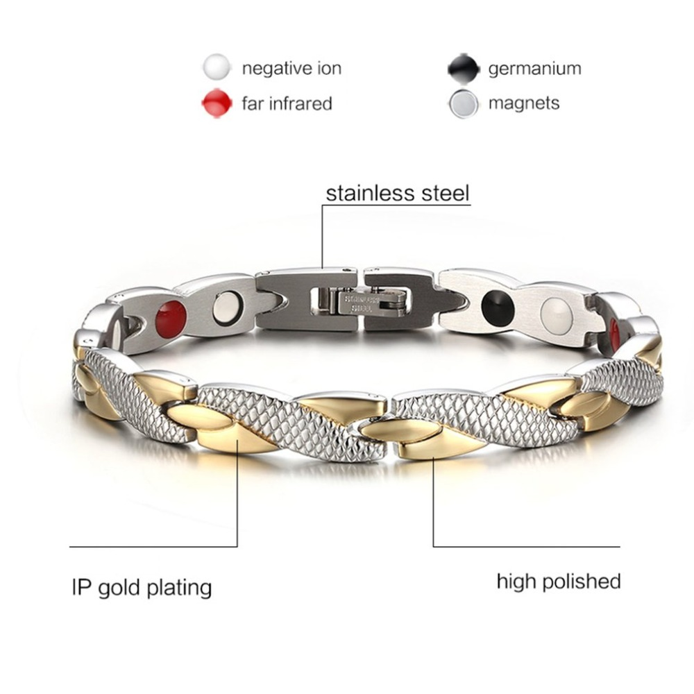 Popular Magnetic Slimming Bracelet Fashionable Jewelry For Man Woman Link Chain Weight Loss Bracelet Health Slimming Products 1