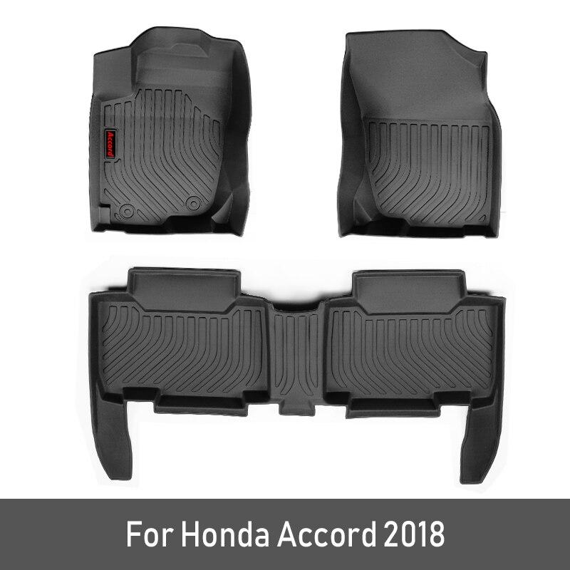 2019 nouveaux tapis de sol de voiture faits sur commande de TPE pour Honda Accord 2018 2019 10th Accord accessoires patins de pied style de tapis de voiture Automobile