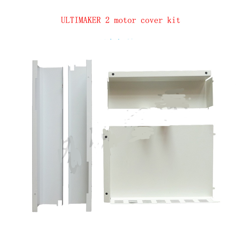 Ultimaker 2 3d printer motor mainboard and controller cover all metal full kit white color