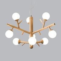 Branch chandelier Nordic modern bedroom solid wood living room table magic beans molecular lamp