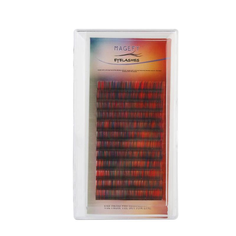 Черный/голубой цвет 12 мм ресницы расширения 1 лотки отдельные накладные ресницы Красота макияж натуральных ресниц