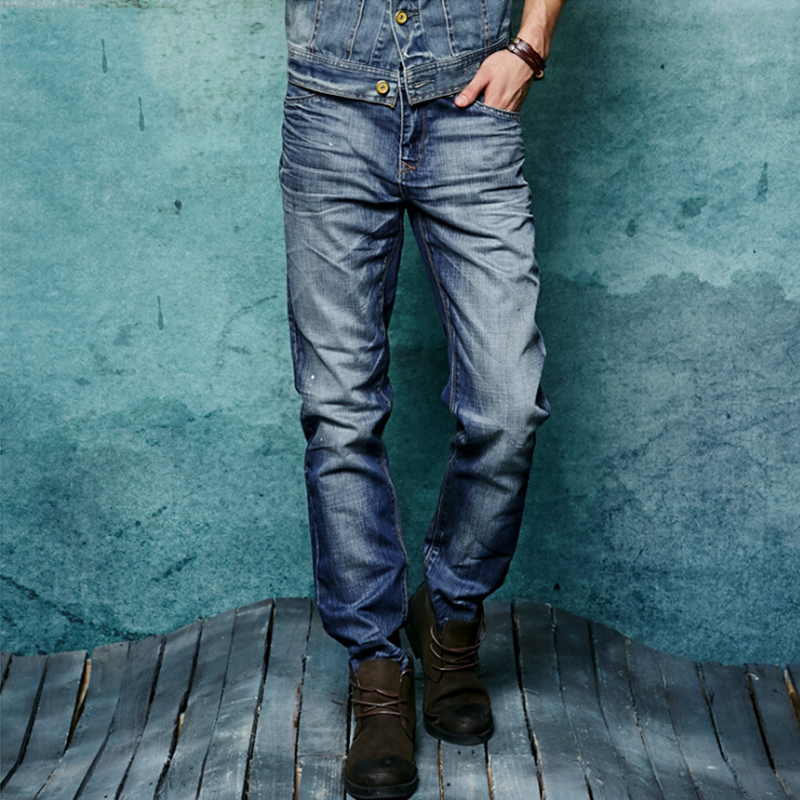 2017 new casual straight worn  winter  men's jeans blue Slim micro-stretch jeans large size 28 29 30 31 32 33 34 36 38  trousers new slim men s men s micro horn jeans korean tide slim stretch small trim men s black jeans size26 27 28 29 30 31 32 33 34